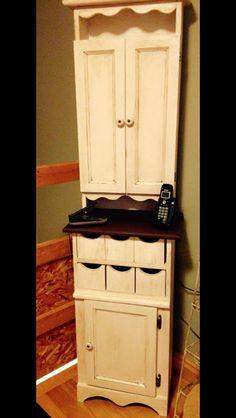 Cupboard, chaulk painted and dark waxed.
