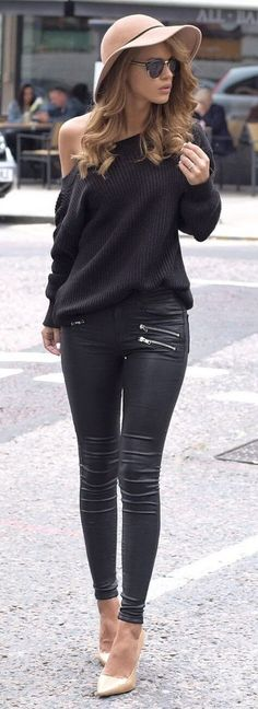 10 Amazing Outfits with Faux Leather Leggings | Page 3 of 10