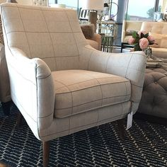 wonderland by alice lane. Nolan chair smartly dressed in this windowpane plaid. You know where I think Nolan would look good? A home office! Your family room would also benefit from such good looks! ~ Nolan Chair - $949 #foundinwonderland #smartandhandsome