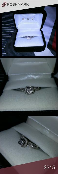 Kay's engagement ring Very pretty. Size 3.5. No paperwork. All diamonds are real and intact. Kay Jewelers Jewelry Rings