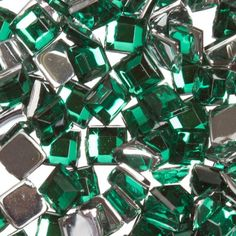 Zink Color Nail Art Acrylic Rhinestone Green Square 100 Piece Embellishment *** Check out this great product @ http://www.amazon.com/gp/product/B006TMM3NU/?tag=christmasdecor1-20&phi=200816214709