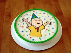 Party Cakes: Caillou Brownie Cake