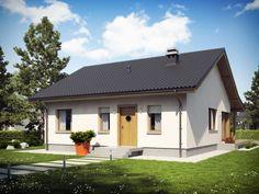 Small houses under 120 sq. One Floor House Plans, Dream House Plans, Tree Bedroom, Elmo, Gable House, Prefabricated Houses, Small House Design, Design Case, Building Plans