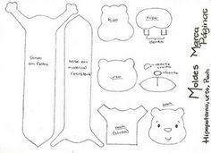 Mi Mundo Infantil: MARCAPÁGINAS Felt Bookmark, Bookmark Craft, Bookmarks, Diy Projects For Kids, Diy For Kids, Sewing Projects, Best Teddy Bear, Hello Kit, Teddy Bear Sewing Pattern