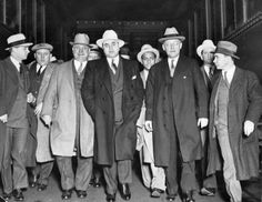 Al Capone and his entourage...