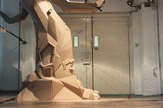 THE TREE. Bartek Elsner's Cardboard Sculptures Germany.