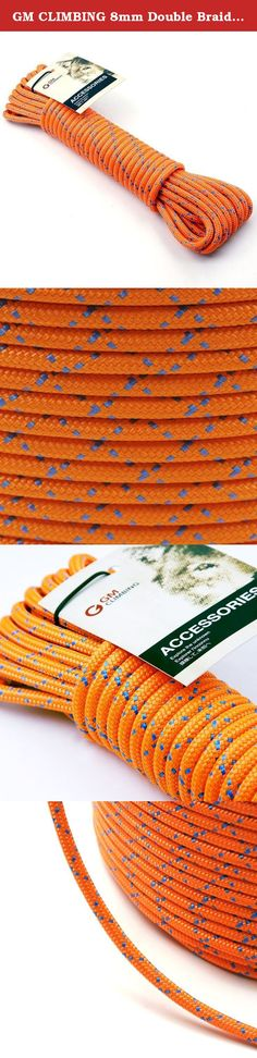 GM CLIMBING 8mm Double Braid Accessory Cord Rope Fluorescent 100ft. GM CLIMBING Double Braid Accessory Cord Specification Material: Polyester of High Tenacity Construction: Double Braid Diameter - Tensile Strength: 8mm / 5/16in - 20kN / 4500lb 6mm / 1/4in - 11kN / 2400lb Certification: CE 1019 EN564:2014 The cord is firmly constructed to be safe and of high tensile strength as a climbing equipment. The cord is originally designated for prusik / lanyard making, anchor cord, or other...
