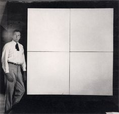 Robert Rauschenberg, White Painting, 1951. House paint on canvas, 72 x 72 in, four panels. Collection the artist.
