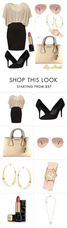 """""""Women Empowerment - Business #2"""" by andi-143 on Polyvore featuring The Kooples, MICHAEL Michael Kors, Ray-Ban, Lana, Michele, Guerlain and Michael Kors"""