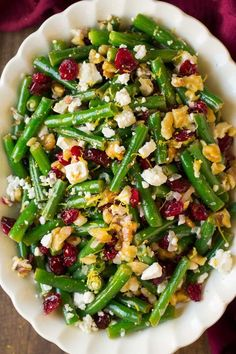 Such a delicious green bean recipe! Great flavor, good blend of textures and beautiful colors. Easy enough for a weeknight dinner yet fancy for a party.