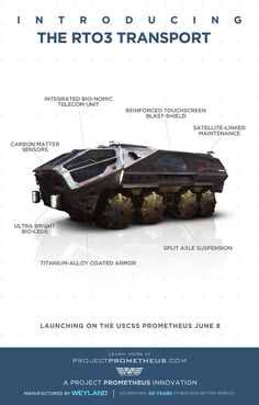 It looks like the futuristic space truck from Ridley Scott's film Prometheus but this is Nasa's visionary new Mars rover which could one day provide transport for manned missions to the Red Planet. Aliens, Xenomorph, Madara Uchiha, Prometheus Movie, Susanoo, Goku E Vegeta, Image Internet, Sci Fi Thriller, Ridley Scott