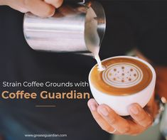 Eliminate the coffee grounds from your with Grease Guardian waste strainer. Sink In, Grease, Latte, Coffee, Kitchen, Kaffee, Cooking, Kitchens, Cup Of Coffee