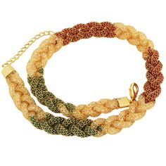 Multicoloured Stone Chains With Twisted Design