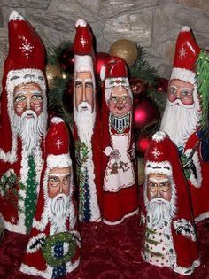 Cindy's Santa Shack / Handpainted Santas / Bath, Maine