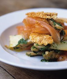 Smoked salmon with steamed potato salad with lemon and toasted Parmesan - and other summer recipes from Nigel Slater Top Recipes, Veggie Recipes, Fish Recipes, Summer Recipes, Seafood Recipes, Smoked Trout Salad, Smoked Salmon, Easy Delicious Dinner Recipes, Southern Style Potato Salad