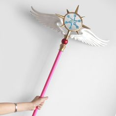 2019 New Style Card Captor Sakura Kinomoto Star Cane Clear Card Cosplay Magic Wand Wing Stick Accessorie Props Costumes & Accessories Novelty & Special Use