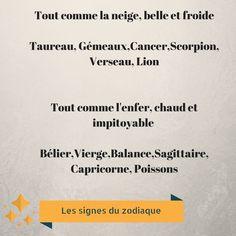 Impitoyable, mais chaleureuse ! Astrology Aquarius, Zodiac Signs Horoscope, Zodiac Quotes, Astrology Signs, Horoscopes, Cancer Horoscope Dates, Capricorn And Cancer, Gemini, Funny Me