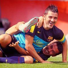 Pedro and David Villa FC Barcelona