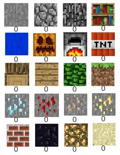 minecraft scavenger hunt sheet