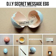 #Pensierino di #Pasqua #fai da te, piccole uova custodiscono messaggi speciali
