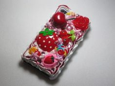Cute Cream Cherry Starryberry Cake Case for #iPhone 4/4S