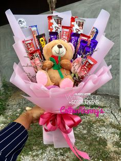 Order or enquiry's please Whatsapp us No : We provide delivery for Penang Kedah Perlis Kl Selangor (Selected Area) Cute Birthday Gift, Cute Valentines Day Gifts, Birthday Candy, Birthday Gifts For Best Friend, Diy Birthday, Candy Bouquet Diy, Food Bouquet, Gift Bouquet, Diy Gifts Videos