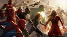 """Marvel Studios concept artist Ryan Meinerding has created an incredible piece of artwork titled """"The Road To Infinity War"""" for the Disney twenty-three magazine and it unites fourteen iconic superheroes..."""