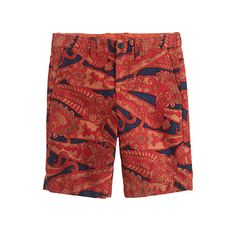 Boys' Stanton short in exploded orange paisley : AllProducts | J.Crew