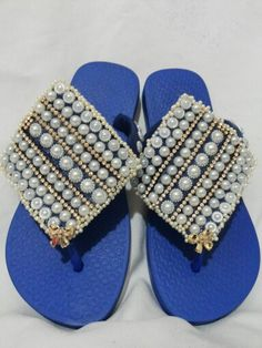 Chinelo marrocos azul