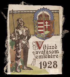 Vitéz avatási emlék textil szövet. Hungary History, Army, Posters, Culture, Retro, Life, Europe, Gi Joe, Military