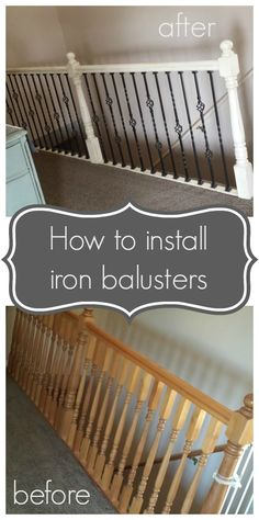 DIY How to Install Iron Bausters Hollie did a great job!  Check out how easy it can be to do in your house.