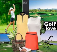 Featuring the Golf Love Set! See lots of sets exclusive at lorisgolfshoppe.polyvore.com! #golf #fashion #lorisgolfshoppe