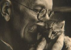 Bohuslav Reynek and a kitten Art Pieces, Kitten, Pets, Animals, Artists, People, Czech Republic, Cute Kittens, Animals And Pets