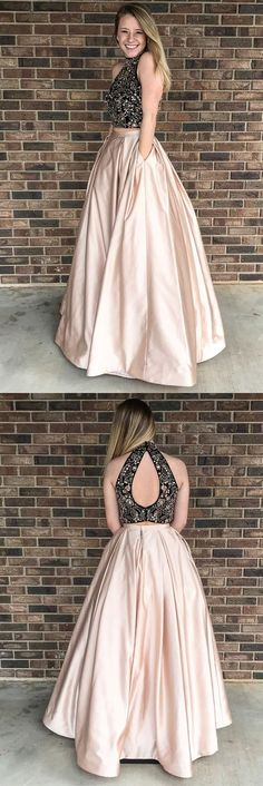 Sexy Halter Lace Evening Dress, Sexy Long Prom