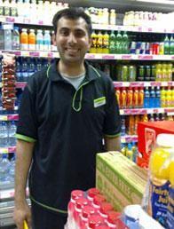 Nadeem Salim - shelf replenisher at the Co-operative