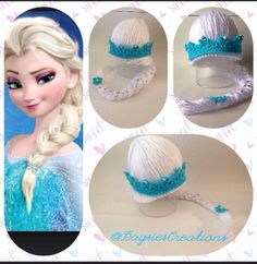 Queen Elsa inspired Hat/wig  by DaysiesCreations on Etsy, $25.00