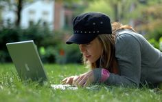 Image result for in park with computer