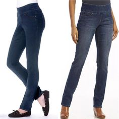 9eaa5384532 Jag Jeans Size 16W Pull On High Rise Slim Leg Women s Dark Wash Jeans Plus  Size