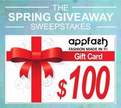 Win $100 Appfash Gift Card! Ends 4/15. #Sweepstakes