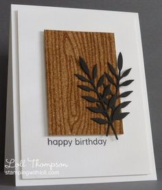 Stamping with Loll: Butterfly on Cork. Inked embossing folder used on the cork for design.