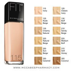 Maybelline Fit Me Foundation - I use 115 and it's perfect! Not too heavy, but it evens out your skin tone.