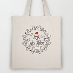 OttoSnowMan Tote Bag by creaziz - $18.00