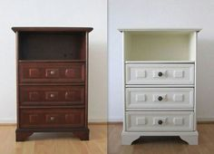 Muebles reciclados on pinterest mesas antigua and no - Muebles antiguos restaurados antes y despues ...