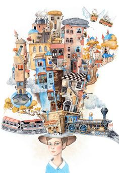 "'Baku"" magazine illustrations by Sveta Dorosheva, via Behance"