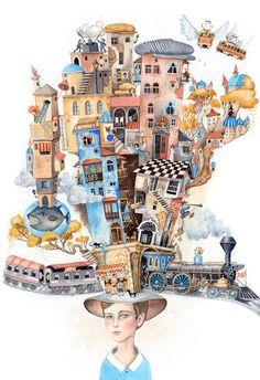 """'Baku"""" magazine illustrations by Sveta Dorosheva, via Behance"""