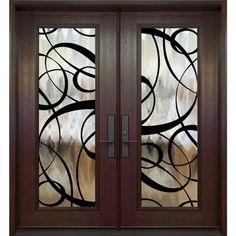 Double entry door - full size Paris wrought iron design - FerrumTech collection