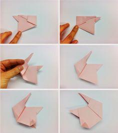 Paso A Para Hacer Un Conejito De Origami