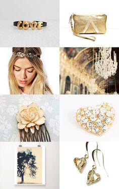 LOVE In GOLD by XenaStyle on Etsy--Pinned with TreasuryPin.com