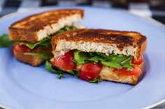 I LOVE CRILLED CHEESE!!! Stepping into and out of Comfort Zones//Grilled Cheese with Cherry Tomatoes and Arugula via The Year in Food