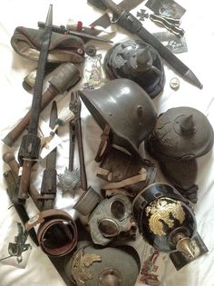 A fantastic collection of original WWI German military.